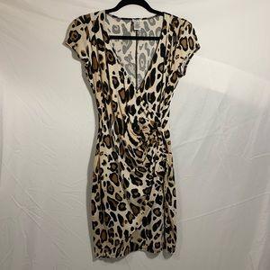 CACHE brown leopard print dress